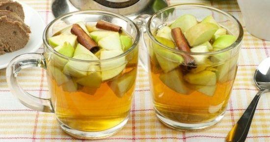 Чай для похудения я яблоком