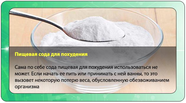 Похудение при употреблении соды