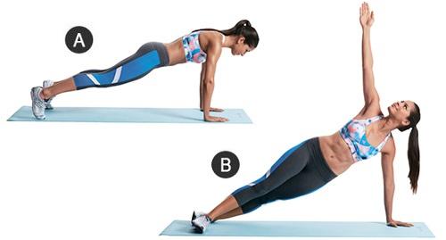 Три упражнения для похудения живота и боков фото