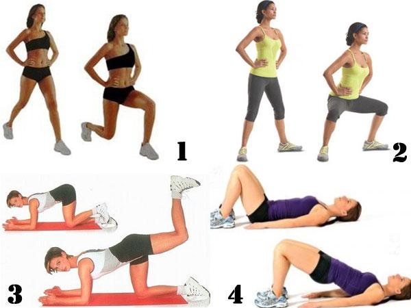 Физические упражнения для женщин.